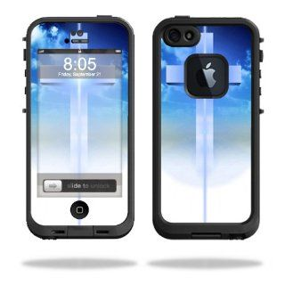 MightySkins Protective Vinyl Skin Decal Cover for LifeProof iPhone 5 Case 1301 fre Sticker Skins Cross Cell Phones & Accessories