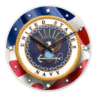 Shop The United States Navy Patriot Wall Clock at the  Home D�cor Store. Find the latest styles with the lowest prices from Bulova