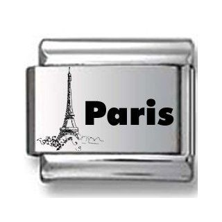 Paris Eiffel Tower Laser Italian Charm Jewelry