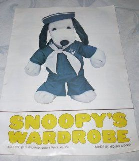"Peanuts Snoopy's Wardrobe for 18"" Plush Snoopy   Navy Sailor Outfit Toys & Games"