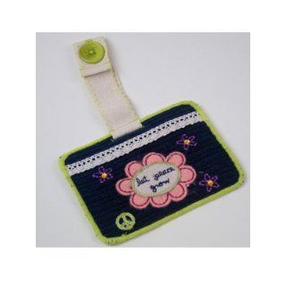 "Natural Life Inspirational Luggage Tag Bag Travel ""Let Peace Grow"" Clothing"