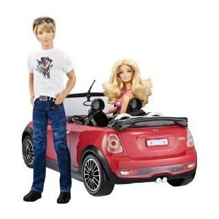 Toy / Game Barbie And Ken My Cool Mini Cooper Convertible With White Racing Stripes Is The Ultimate Guy's Ride Toys & Games