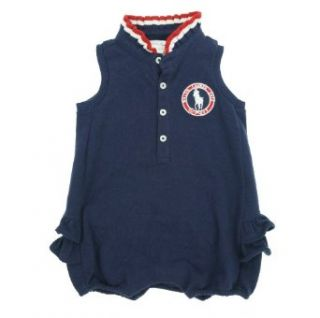 Ralph Lauren Baby Girl's 2012 Olympic Team USA Bodysuit Navy 3 Months Infant And Toddler Bodysuits Clothing