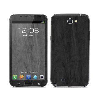 Black Woodgrain Design Protective Decal Skin Sticker (High Gloss Coating) for Samsung Galaxy Note II GT N7100 Cell Phone Cell Phones & Accessories