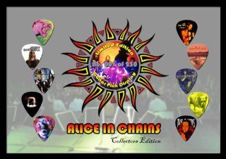 Alice in Chains Premium Celluloid Guitar Picks Display Large A4 Sized Musical Instruments