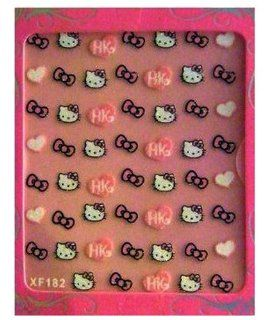 Hello Kitty Nail Art Stickers Hearts and Bows(2pk) Health & Personal Care