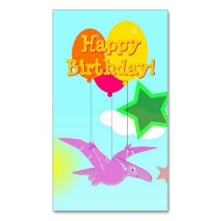 Happy Birthday Cartoon Dinosaurs Small Cards Business Cards