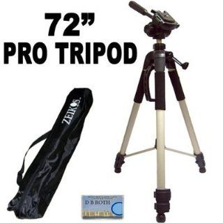 "Professional PRO 72"" Super Strong Tripod With Deluxe Soft Carrying Case For The JVC Everio GZ HD320, HD300, HM200, MS130, MS120, MS100, MG255, MG155, MG130 High Definition Camcorders  Hd Everio Video Camera Tripod  Camera & Photo"