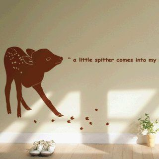 Baby deer WALL DECOR DECAL MURAL STICKER REMOVABLE VINYL Automotive