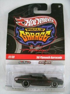 Hot Wheels Phil's Garage '68 Plymouth Barracuda Black with Real Riders #22/39