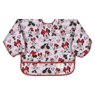 Bumkins Disney Baby Minnie Mouse Waterproof Sleeved Baby Bib   Pink