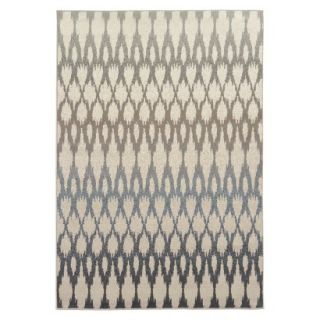 Global Bazaar Area Rug   Blue/Tan (53x75)