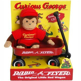 Radio Flyer Little Red Wagon   Curious George Monkey Bean Bag Plush Toy Toys & Games