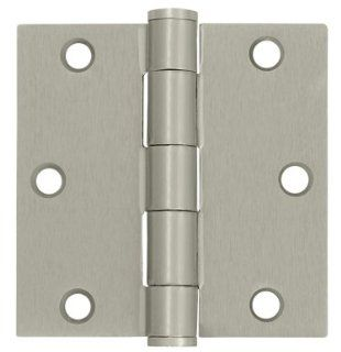 3.5 in. x 3.5 in. Heavy Duty Square Steel Hinge   Pair (Set of 10) (Antique Nickel)   Door Hinges