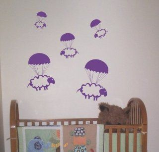 Parachuting Sheep Decals Stickers Wall Art Graphic Baby Room Count Cute Animal Nursery Boy Girl Sleep Bedtime   Wall Decor Stickers