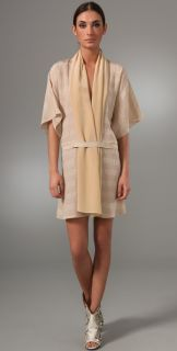 Elise Overland Two Tone Dress with Hood
