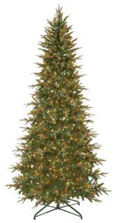 GKI Bethlehem Lighting Frasier 7 1/2 Foot Slim Christmas Tree Prelit with Multi Colored Lights