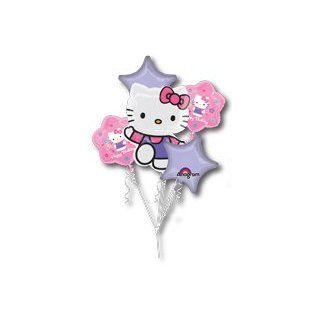 HELLO Kitty CAT Pink (5) Piece Birthday PARTY Mylar Helium BALLOONS Set KIT Health & Personal Care