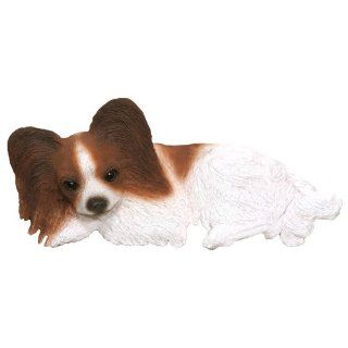 Papillon Chestnut/White Collectible Dog Figurine Door and Window Topper decor gift