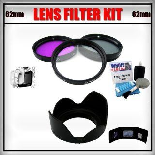 62mm 3pc Lens Filter Kit includes CPL FLD UV Filters (7D 6D 5D T4i T3i T3 T2i T1i XT XTi XSi)   Lens Cleaning Kit   Screen Protector   Tulip Lens   Memory Card Wallet   Canon / Nikon Toys & Games