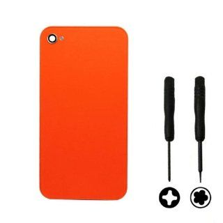 Amcctvshop 2014 Orange New Back Glass Rear Door Case Assembly Battery Cover for Apple Iphone 4 4g Cell Phones & Accessories