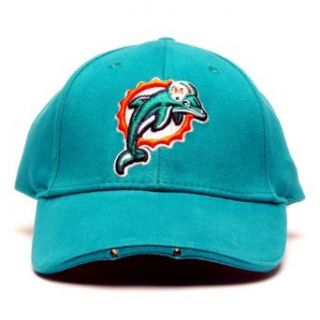 NFL Miami Dolphins Dual LED Headlight Adjustable Hat  Sports Fan Novelty Headwear  Clothing