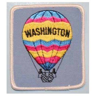 FB055 Washington Hot Air Balloon Embroidered Applique Travel Souvenir Patch FD   Novelty Baseball Caps