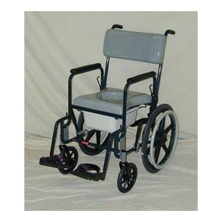 "ACTIVEAID 480 Series Stainless Steel Shower Commode Chair w/20"" Wheels Health & Personal Care"
