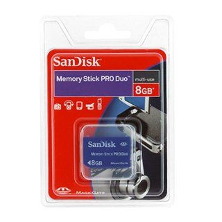 SanDisk 8GB Memory Stick PRO Duo Memory Card for Sony Cybershot DSCW120 DSCW150 DSCW170 DSCH50 Computers & Accessories