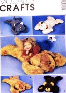 McCall's 9616 Crafts Sewing Pattern Fuzzy Friends Animal Pillow Shams