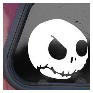 Nightmare Before Christmas White Sticker Decal JACK SKELLINGTON White Sticker Decal   Decorative Wall Appliques