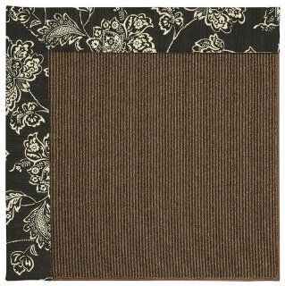 Bandana Onyx Octagonal Indoor/Outdoor Solid rug by Capel Shoal Java Sisal in 4'x4'   Area Rugs