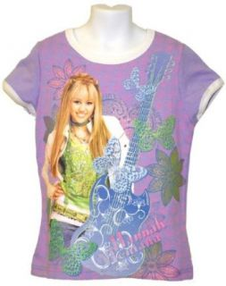 Hannah Montana Little Girls Sparkle Lavender T shirt (7/8) Apparel Accessories Clothing