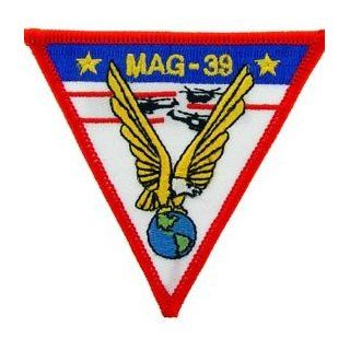 USMC Marine Corps Military Embroidered Iron On Patch   MAG 39 Eagle Globe Applique Clothing