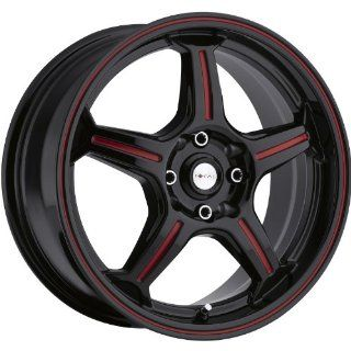 Focal F 01 16 Black Red Wheel / Rim 4x100 & 4x4.25 with a 42mm Offset and a 73 Hub Bore. Partnumber 172 6701R Automotive