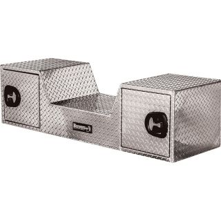 Buyers Products Aluminum Gooseneck Truck Box — Diamond Plate, 57in.L x 19in.W x 15in.H, Model# 1712040