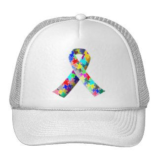 Autism Awareness Puzzle Ribbon Hat Baseball Cap