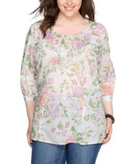 Triangle by s.Oliver Damen Bluse Regular Fit Plus Size / �bergr��e/44 Bekleidung