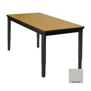 "Shop Wb Mfg 42"" X 60"" Lobo Heavy Duty Table W/ Armor Edge Laminate Top & Adj. Legs, Gray Nebula at the  Furniture Store"