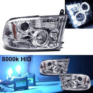 Eautolight 8000k Slim Xenon HID Kit+ 09 11 Dodge Ram Halo DRL LED Projector Head Lights Automotive