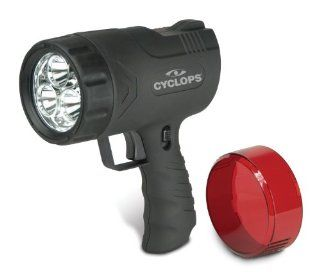 Cyclops Sirius 9W Rechargeable 300 Lumens, Hand Held Spotlight, With a Ergonomically Designed Grip and a Trigger Pulse Switch, Featuring a Always on Lock Switch, and 3 High Power White LED's for Long Range and 6 White LED's for Immediate Area Use,