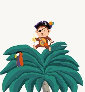Home Stickers HOST 1462 XX Large Palm Trees and Pirates Decorative Wall Stickers   Nouvelles Images