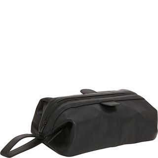 AmeriLeather Top Zip Leather Toiletry Bag