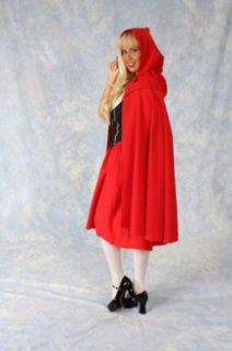 Adult One Size Little Red Riding Hood Cape Adult Sized Costumes Clothing