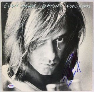 "EDDIE MONEY Signed Autographed ""Playing For Keeps"" Album LP PSA/DNA #S59227 Entertainment Collectibles"