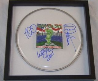 Ugly Kid Joe America's Least Wanted Group Signed Autographed Drum Head Drumhead Loa Entertainment Collectibles