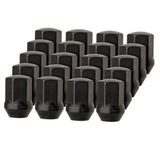 "20 Premium DPAccessories Black Lug Nuts For Factory/OEM Aluminum Chevy Wheels (M14x1.5 Thread) 22mm   7/8"" Hex Drive Automotive"