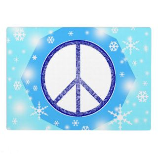 Snowflake Christmas Beautiful Cute Winter Peace Display Plaque