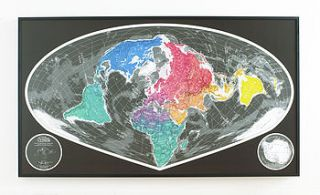 large world map by the future mapping company