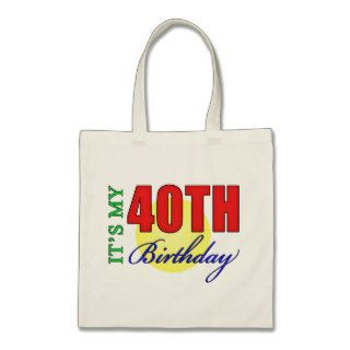 Fun 40th Birthday Party Gifts Canvas Bags
